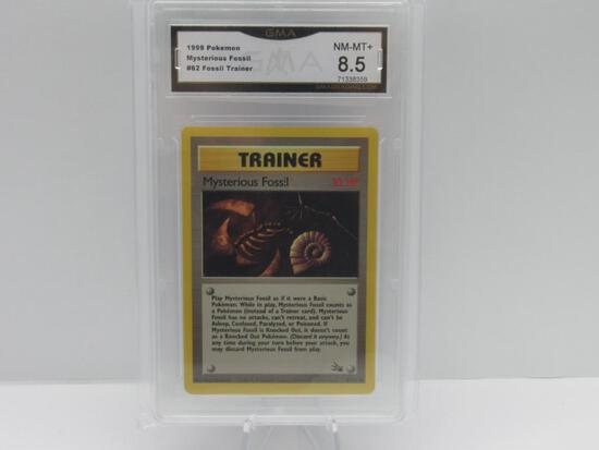 GMA GRADED 1999 POKEMON FOSSIL TRAINER MYSTERIOUS FOSSIL #62 - NM MT+ 8.5