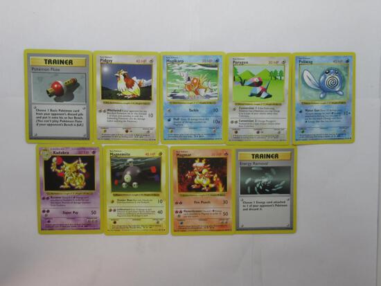 9 Count Lot of Base Set SHADOWLESS Pokemon Trading Cards