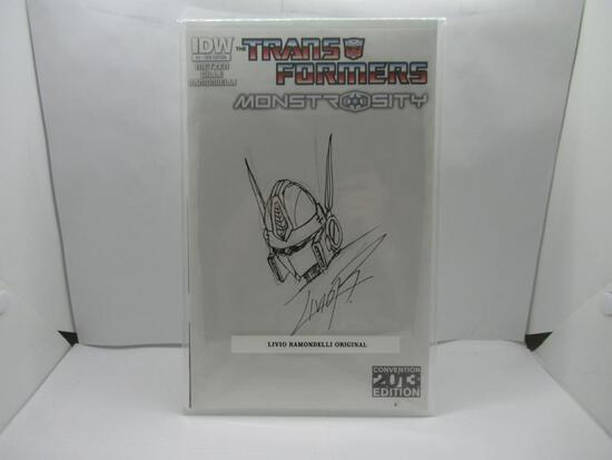Transformers Monstrosity #1 Original art cover by Livio Ramondelli Transformers Artist IDW