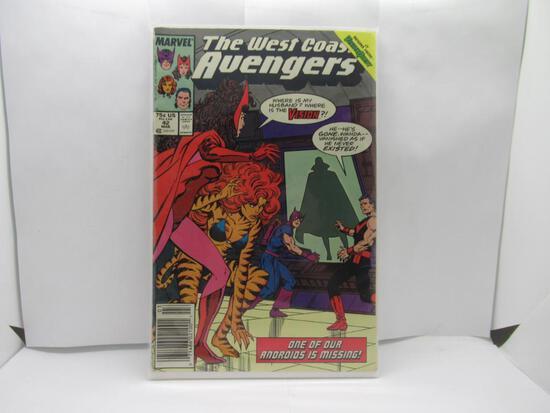 West Coast Avengers #42 Vision and Scarlet Witch Wandavision 1988 Marvel