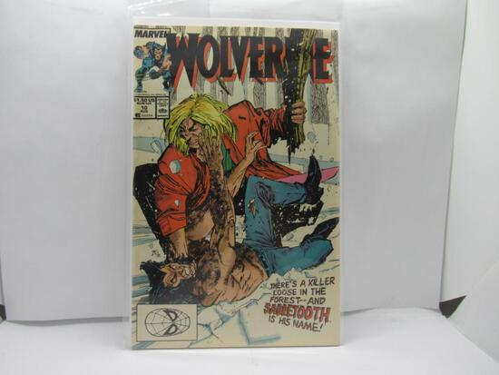 Wolverine #10 vs Sabretooth 1st App Silver Fox 1989 Marvel