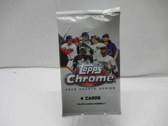 Factroy Sealed 2020 Topps CHROME Update Series Baseball 4 Card Pack