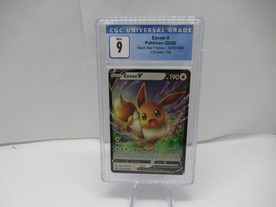 CGC Graded Pokemon V POWER TIN BLACK STAR PROMO Mint 9 - EEVEE V SWSH065