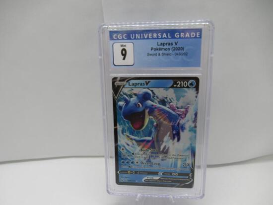 CGC Graded Pokemon SWORD & SHIELD Mint 9 - LAPRAS V 049/202