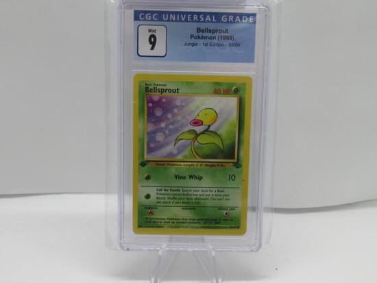 CGC Pokemon Mint 9 - 1999 Jungle 1st Edition - Bellsprout #49