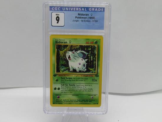CGC Pokemon Mint 9 - 1999 Jungle 1st Edition - Nidoran #57