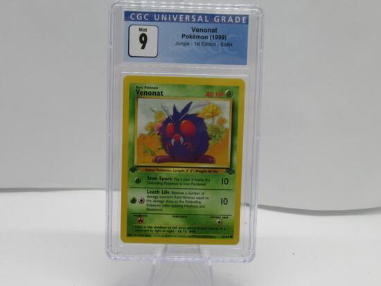 CGC Pokemon Mint 9 - 1999 Jungle 1st Edition - Venonat #63