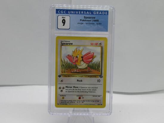 CGC Pokemon Mint 9 - 1999 Jungle 1st Edition - Spearow #62