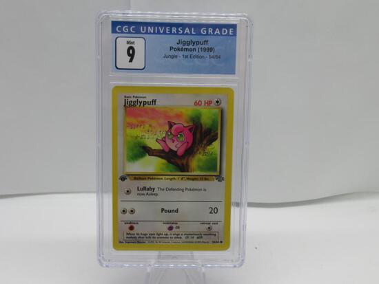 CGC Pokemon Mint 9 - 1999 Jungle 1st Edition - Jigglypuff #54