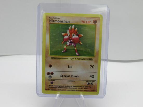 SHADOWLESS Base Set Holo Hitmonchan Pokemon Card 7/102