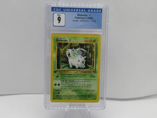 CGC Graded Pokemon JUNGLE 1st Edition MINT 9 - NIDORAN 57/64