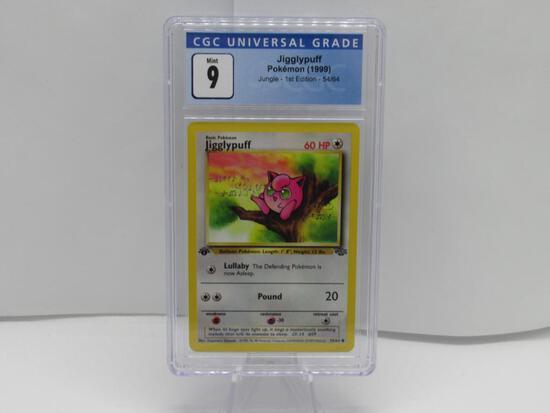 CGC Graded Pokemon JUNGLE 1st Edition MINT 9 - JIGGLYPUFF 54/64