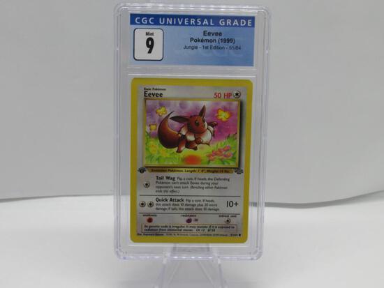 CGC Graded Pokemon JUNGLE 1st Edition MINT 9 - EEVEE 51/64