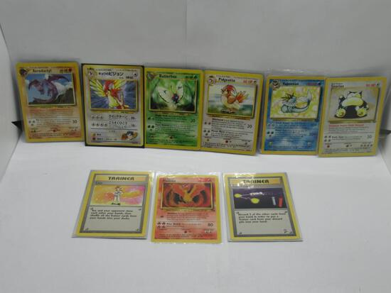 9 Count Lot of Vintage RARE Pokemon Cards from HUGE Collection