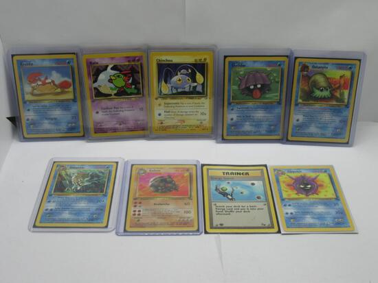 9 Count Lot of Vintage 1st EDITION Pokemon Cards from HUGE Collection