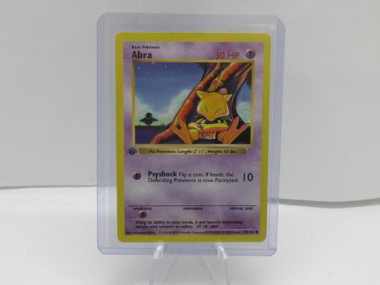 Base Set 1st Edition SHADOWLESS Pokemon Card - ABRA 43/102