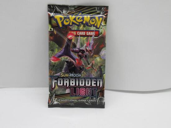 Factory Sealed Pokemon Sun & Moon FORBIDDEN LIGHT 10 Card Booster Pack