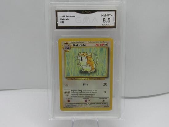 GMA GRADED 1999 POKEMON RATICATE #40 NM-MT+ 8.5