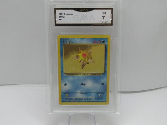 GMA GRADED 1999 POKEMON STARYU #65 NM 7