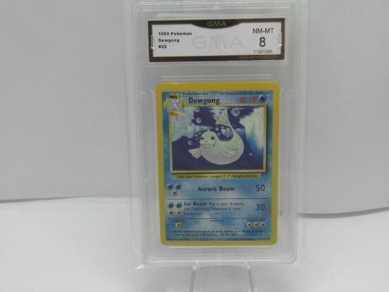 GMA GRADED 1999 POKEMON DEWGONG #25 NM-MT 8