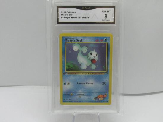 GMA GRADED 2000 POKEMON MISTY'S SEEL #88 GYM HEROES 1ST EDITION NM-MT 8