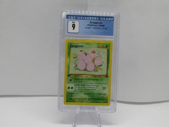 CGC Graded Pokemon JUNGLE 1st Edition MINT 9 - EXEGGCUTE 52/64