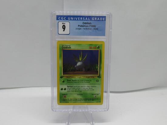 CGC Graded Pokemon JUNGLE 1st Edition MINT 9 - ODDISH 58/64