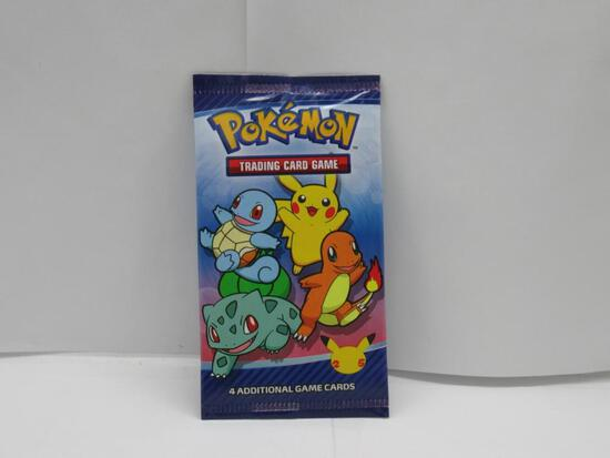 Factory Sealed 2021 McDonald's 25th Anniversary of Pokemon 4 Card Pack