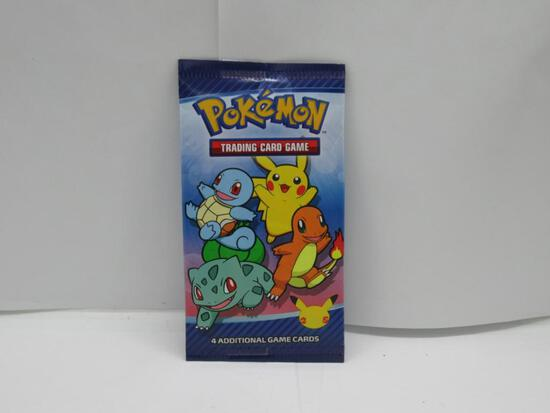Factory Sealed 2021 Mcdonald's 25th ANNIVERSARY Pokemon 4 Card Booster Pack