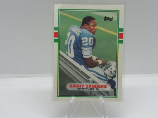 1989 TOPPS TRADED SET BREAK DETROIT LIONS BARRY SANDERS ROOKIE CARD #83T