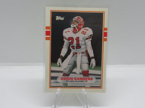 1989 TOPPS TRADED SET BREAK ATLANTA FALCONS DEION SANDERS ROOKIE CARD #30T