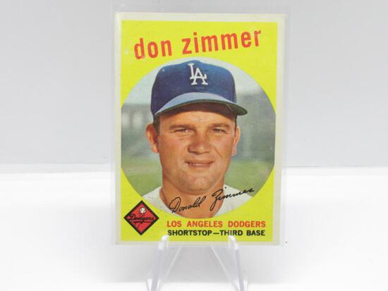 1959 TOPPS LOS ANGELES DODGERS DON ZIMMER CARD #287