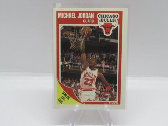 1989-90 FLEER SET BREAK MICHAEL JORDAN CARD #21