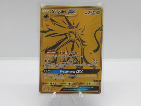 Pokemon Card Hidden Fates Black Star Promo Solgaleo sm104