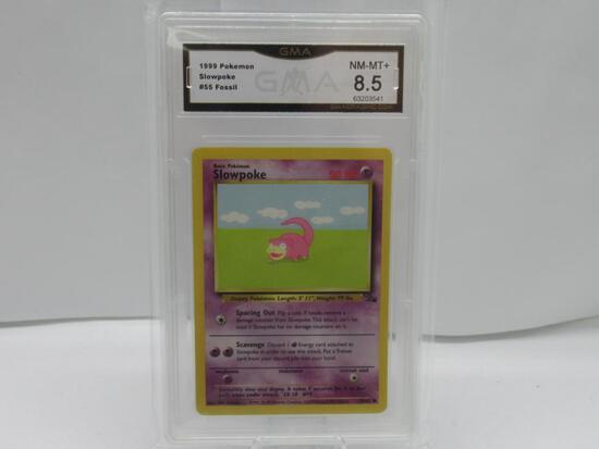 GMA GRADED POKEMON 1999 SLOWPOKE #55 FOSSIL NM-MT+ 8.5