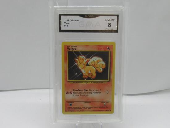 GMA GRADED POKEMON 1999 VULPIX #68 NM-MT 8