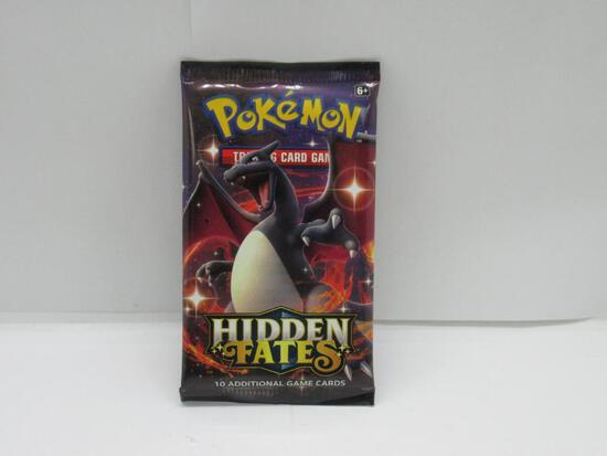 Factory Sealed Pokemon HIDDEN FATES 10 Card Booster Pack - Shiny Charizard GX?