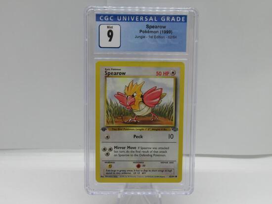 CGC Graded Pokemon JUNGLE 1st Edition MINT 9 - SPEAROW 62/64