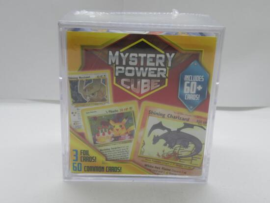 Factory Sealed Pokemon MYSTERY POWER CUBE - Includes 60+ Cards! 3 Foils!