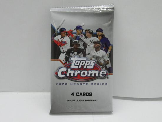 Factory Sealed 2020 Topps CHROME UPDATE Series 4 Card Pack