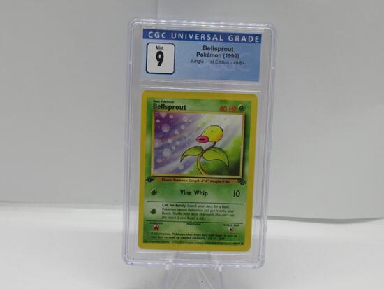 CGC Graded Pokemon JUNGLE 1st Edition MINT 9 - BELLSPROUT 49/64