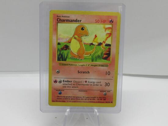 1999 Pokemon Base Set Shadowless #46 CHARMANDER Starter Trading Card from Cool Collection