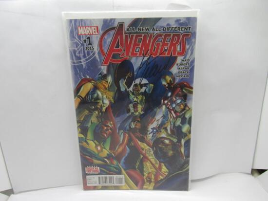 Avengers #1 Signed by Mark Waid w/COA 2015 Marvel