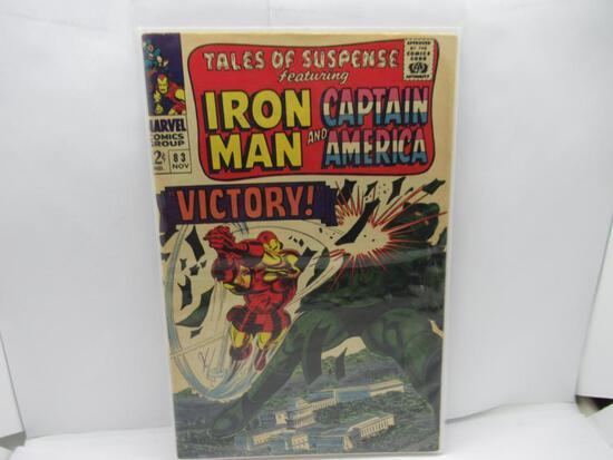 TALES OF SUSPENSE #83 MARVEL 1966 CAPTAIN AMERICA IRON MAN! LEE COLAN KIRBY KEY