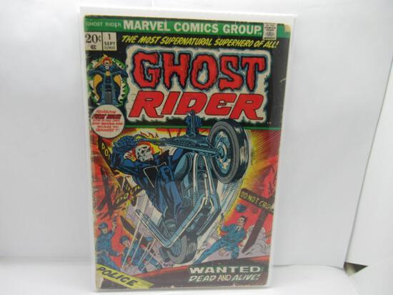 Ghost Rider #1 Comic Book 1st App Son of Satan Marvel Bronze Key Rare 1973