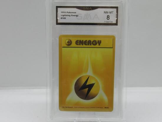GMA GRADED POKEMON 1999 LIGHTNING ENERGY #100 NM-MT 8