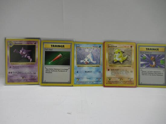 Lot of 5 Vintage Base Set SHADOWLESS Pokemon Cards from Big Collection Haul