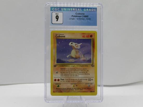 CGC Graded 1999 Pokemon JUNGLE 1st Edition Mint 9 - CUBONE 50/64