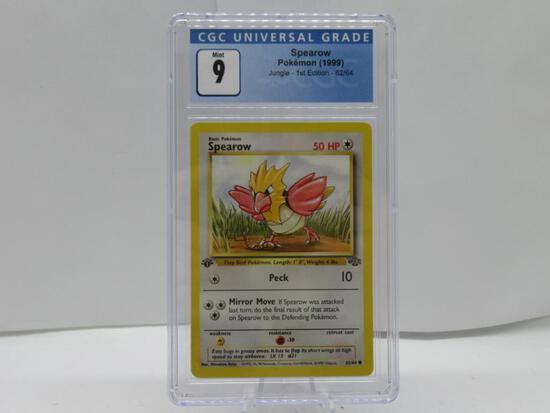 CGC Graded 1999 Pokemon JUNGLE 1st Edition Mint 9 - SPEAROW 62/64