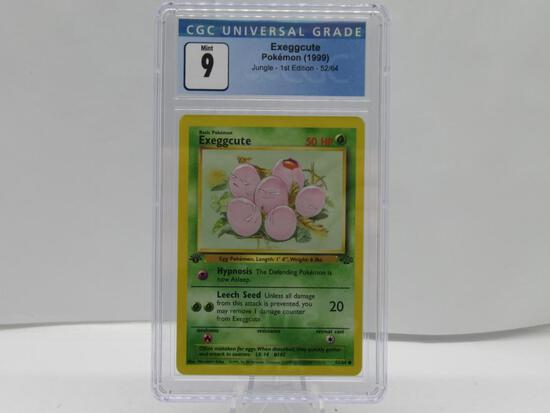 CGC Graded 1999 Pokemon JUNGLE 1st Edition Mint 9 - EXEGGCUTE 52/64